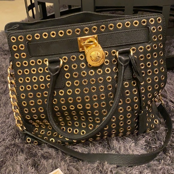 Michael kors hamilton tote with grommets